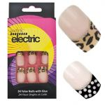 TECHNIC ELECTRIC 24 FALSE NAIL CHOICE OF 2 DESIGN POKKA DOT / CHEETAH